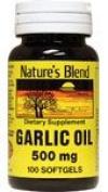 Nature's Blend Garlic Oil 500 mg 100 Softgels