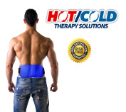 Hot / Cold Therapy Back Wrap - CE CERTIFIED & FDA APPROVED. Relieve Soreness + Decrease Swelling. Hot And Cold Pack For Back PLUS Adjustable Wrap. Can Be Worn Under Back Brace Or Support Belt.