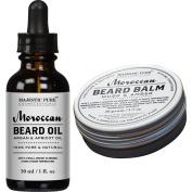 Majestic Pure All Natural Beard Balm & Beard Oil Set, Style, Shape, & Condition,