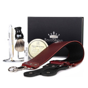 Dovo Pearlex Full Hollow 1.6cm Straight Razor Shaving Set - Complete Shave Kit for Men!