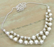 29.06gms,55.3ctw Genuine Pearl .925 Silver Overlay Handmade Fashion Necklace Jewellery