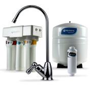 Aquasana AQ-RO-3.56 OptimH2O Reverse Osmosis Fluoride Water Filter, Chrome