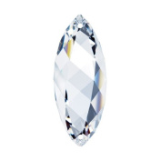 crystal 5.1cm Clear Faceted Twist Prism Amazing Clarity & Shine with Strass Logo Engraved