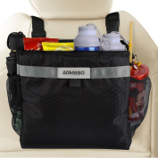 Aomaso Car Garbage Can, Best Auto Trash Bag for Litter, FREE Waste Basket Liners - Hanging Recycle Kit is Universal, Waterproof Organiser Makes a Great Drink Cooler & Road Trip Gift,Black