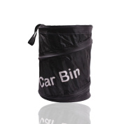 Teenitor® Universal Travelling Portable Car Trash Can - Black Collapsible Pop-up Leak Proof Trash Can