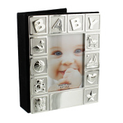 Silver Plated Baby Photo Album Gift 15cm x 10cm
