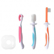 3 Stage Baby Oral Hygiene Set Infant Oral Care Kit Advanced Baby Toothbrush / Tongue Cleaner