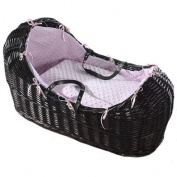 Luxury british made pink popcorn izzy pod/noah pod/apples and pears/snug moses basket covers dressing