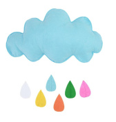 Kids Bedroom Decoration Raining Clouds Water Drop Wall Hanging Children Play Tent Decor Stroller Pushchair DIY Toys