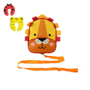 Red Kite Toddlers Lion Back Pack & Detachable Walking Reins- Incs 2 Foam Doorstoppers