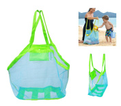 OurKosmos® Extra Large Family Mesh Beach Bag Sand Toy Storage Organiser Tote Backpack Toys Towels Sand Away