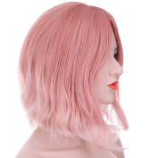 Hxhome Short Curly Wig Sexy Lady Short Bob with Fringe Wave Full Lace With Wig Cap for Women Cosplay Party