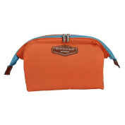 Qearly Simple Travel Cosmetic Bag Storage Makeup Organzier Toiletry Bag-Orange