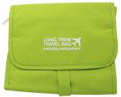 Qearly Waterproof Detachable Hanging Toiletry Bag Travel Cosmetic Bag-Green