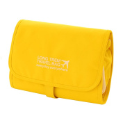 Qearly Waterproof Detachable Hanging Toiletry Bag Travel Cosmetic Bag-Yellow