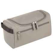 Qearly Portable Waterproof Storage Toiletry Bag Travel Cosmetic Bag-Grey