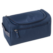 Qearly Portable Waterproof Storage Toiletry Bag Travel Cosmetic Bag-Navy Blue