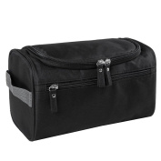 Qearly Portable Waterproof Storage Toiletry Bag Travel Cosmetic Bag-Black