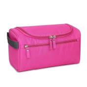 Qearly Portable Waterproof Storage Toiletry Bag Travel Cosmetic Bag-Pink