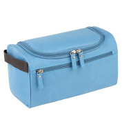 Qearly Portable Waterproof Storage Toiletry Bag Travel Cosmetic Bag-Blue