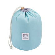 Qearly Large Capacity Drawstring Travel Cosmetic Bag Stroage Toiletry Bag-Blue