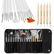 Vonraech Nail Art Designing Painting Dotting Detailing Pen Brushes Bundle Tool Kit 20pcs