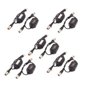 sourcingmap 10 Pcs Coaxial Video Ground Loop Isolator Balun BNC Male to Female for CCTV Camera
