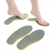 sourcingmap Pair Unisex Orthotic Foot Shoes Insoles Insert High Arch Support Pad Pain Relief