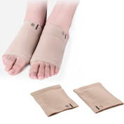 MultiWare Foot Arch Plantar Fasciitis Support Sleeve Silicone Gel Socks Pain Relief