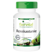 Fairvital - Horse Chestnut Extract 300mg - 20% Aescin - Without Additives - 90 Vegetarian Capsules