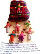 6 HANDMADE FAIRTRADE GUATEMALAN WORRY DOLLS Mayan Tribal Shaman Witch Magic Good Luck Charm m48