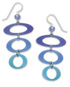 Adajio Women's Sienna Sky Blue Oval Loop Gradient Dangle Earrings 7141