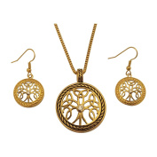BellaMira Tree of Life Celtic 18K Gold Rose Gold Rhodium Pendant Necklace Earrings Jewellery Gift Boxed or Gift Packed