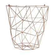 Storage Basket Copper Plated Ideal for Magazine, Newspaper Tidy & Multipurpose Use