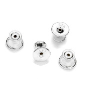 Sterling Silver Ear Earring Stud Back stopper (silicone inside) 1pair