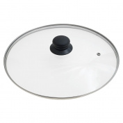 Oryx 5023435 - Glass Lid for Frying Pan, 30 cm, Edge Stainless Steel, Transparent