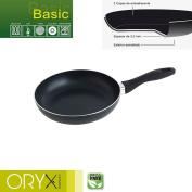 Oryx 5023215 Frying Pan Aluminium Non-stick Basic 22 cm/3 mm, Black, 39 x 23 x 7 cm