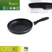 Oryx 5023220 Frying Pan Aluminium Non-stick Basic 24 cm/3 mm, Black, 42 x 25 x 7 cm