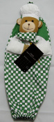 PLASTIC CARRIER BAG STORAGE HOLDER STORE RECYCLE BAGS - Bag Tidy - Teddy Chef Design - green