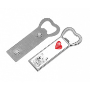 West Highland White Terrier, metal bottle opener with a magnet and the image of a dog