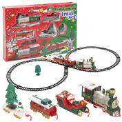Christmas Musical Train & Track Toys Set Kids Party Birthday Gift Decoration