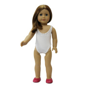 ZITA ELEMENT® Doll Clothes -Beach Swimsuit fits for American's Girl Doll, My Life Doll, Our Generation and other 46cm Dolls, White, Blue, Pink, Rose Red colour available.