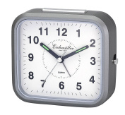 Analogue Alarm Clock With Snooze Function and Light 24388 grey