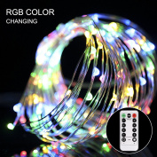 GreenClick 100 LEDs 10m Colourful Copper Wire Fairy String Lights 8 Modes Fit in Indoor and Outdoor