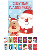 Novelty Christmas Playing Cards Party Stocking Bag Filler Snap Xmas Toy Children Family Game