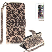 iPhone SE/iPhone 5/5S Case Cover [with Free Screen Protector], Funyye Colourful Drawing Patterns PU Leather Wallet Designer Magnetic Closure with [Nice Wrist Strap] and [Credit Card Holder Slots] Stand Feature Full Body Protection Case Cover Skin for A ..