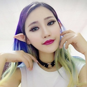 Oumosi Latex Fairy Pixie Elf Fake Ears Cosplay Accessories Halloween Soft Pointed Prosthetic Tips Ear