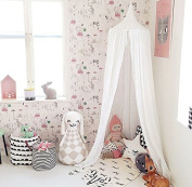 NEW Pericross® Bed Canopy for Baby Kids Reading Play Tents Cotton Linen 290cm Around the Bottom Height 220cm