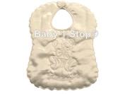 Baby Satin My Christening Day Ivory Bib