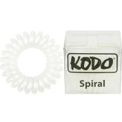 Kodo Spiral White Hair Bobble Pack of 3, Pain Free Hair Band, Reduces Split Ends by Kodo